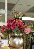 Gold Vase - Silk Arrangement