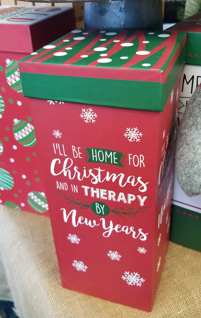 Home For Christmas Wine Glass