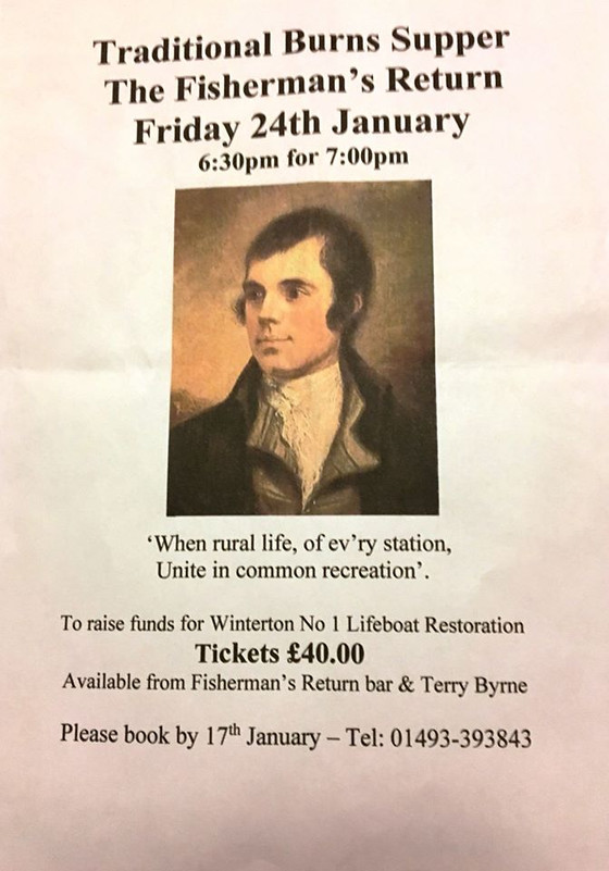 JOIN US FOR A BURNS NIGHT FUNDRAISER - FRI 24 JAN 2020
