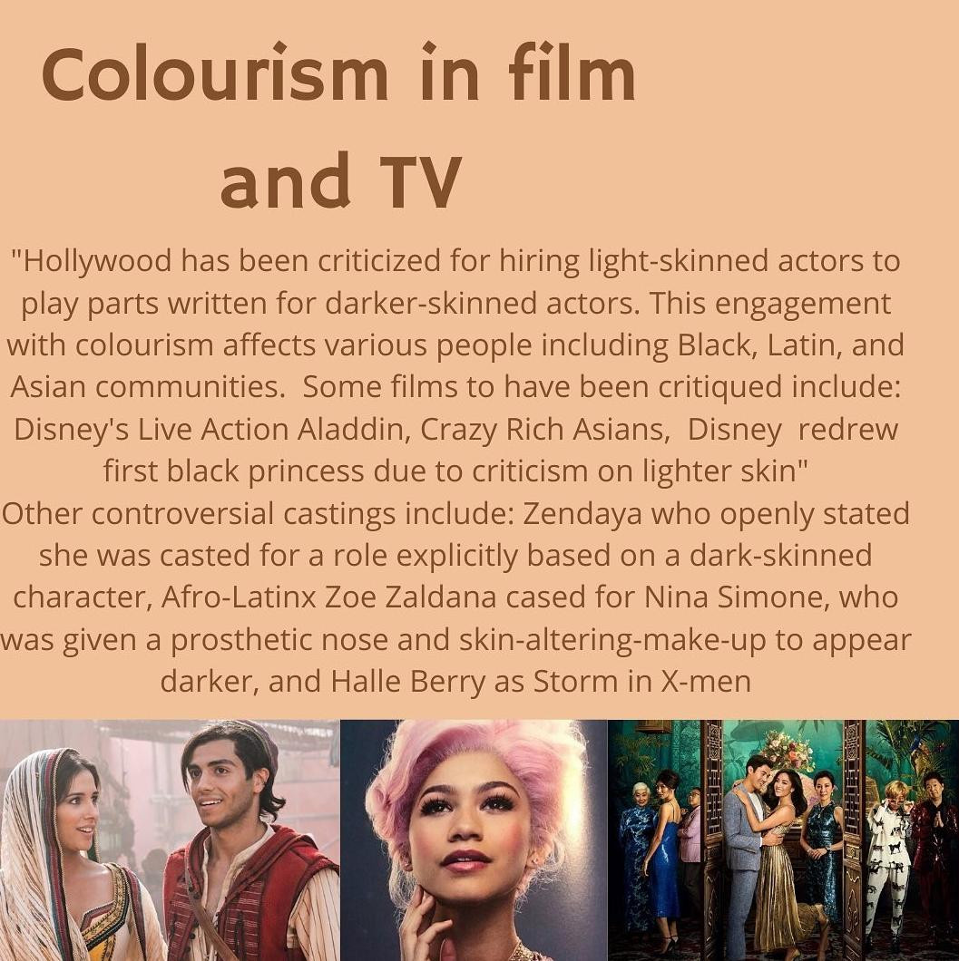 Colourism in film and tv