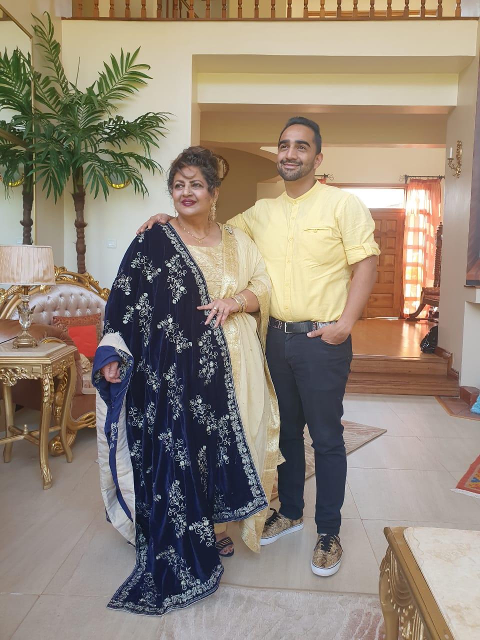 Dr. Firdos Khan with her son Tabir