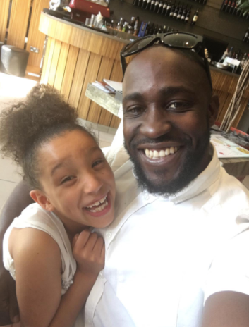 Jaia, 11 with her father, Jay