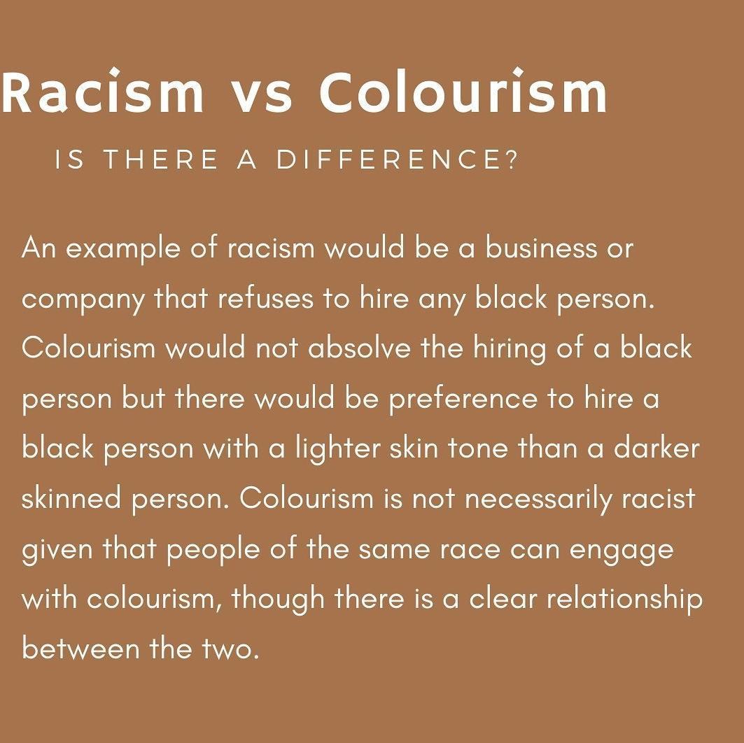 Racism vs Colourism