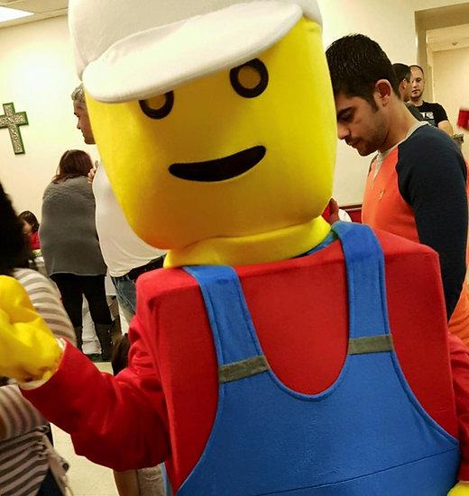 Columbus, Ohio Lego Man costume- lego mascot character Ohio