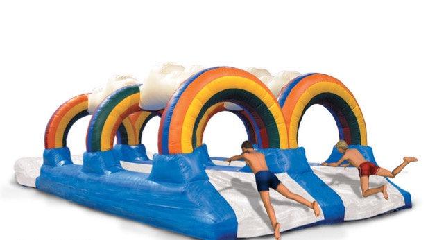 Ohio Double Lane Slip N Slide Rentals Columbus Ohio Inflatable Water Slide rentals for graduation parties, company parties OH