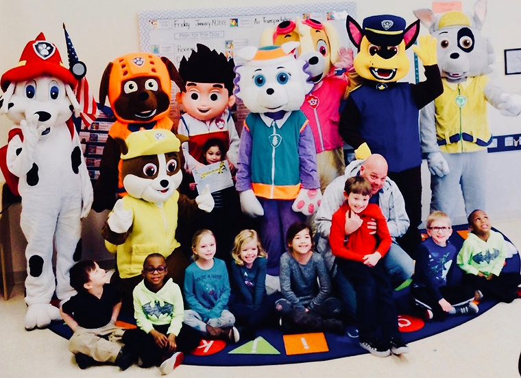 German Village, Ohio Paw Patrol birthday party characters for hire Columbus, Ohio costume characters for parties OH