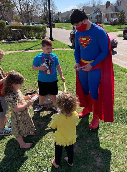 Columbus Ohio superman party character impersonators for hire Bexley Ohio party characters for kids