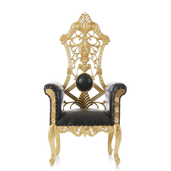 royal gold and black wedding chair rentals Colubmus Ohio