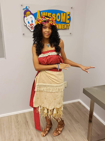 Columbus, Ohio Moana Hawaiian princess for hire - princess birthday parties for hire, Columbus Ohio