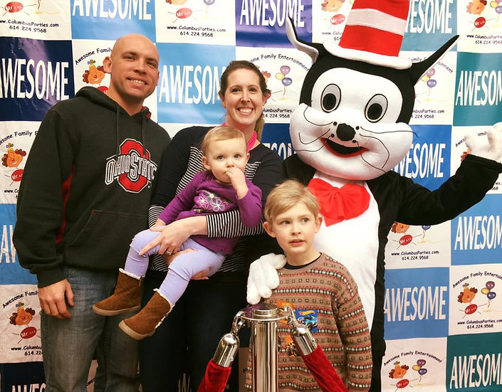 storybook characters for hire Cat in the hat- Columbus, Ohio Costume Characters for hire