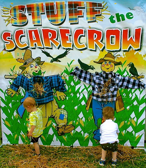 Columbus, Ohio Stuff the Scarecrow carnival game rentals, Columbus Ohio fall themed party game rentals OH