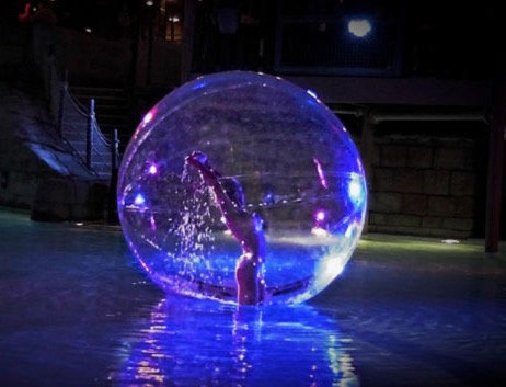 Columbus, Ohio Water Sphere, Bubble Girl, Sphere Dancer, Bubble Dancer, Convention entertainment - Ohio