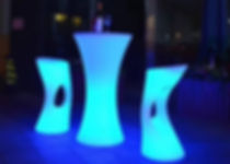 LED cocktail table, Glow cocktail table