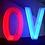 Bexley Ohio Giant Glow Letter Rentals - Wedding Prop Rentals LED furniture rentals Columbus, Ohio