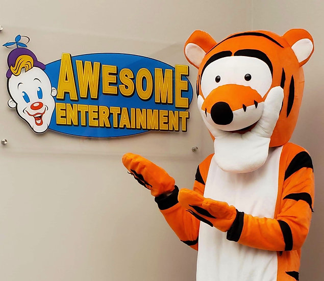 Columbus, Ohio tigger cartoon character impersonator Ohio party characters for hire, kids party characters  for hire...
