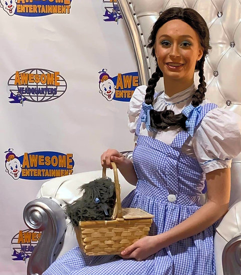 wizard of oz, Dorthy character for hire, prince parties Columbus Ohio