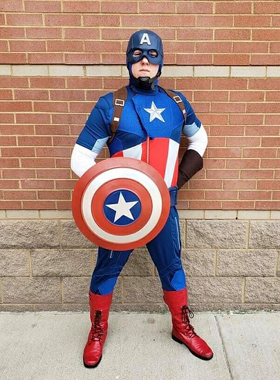 Columbus, OH Captain America Superhero appearances for hire - party character - Columbus Ohio