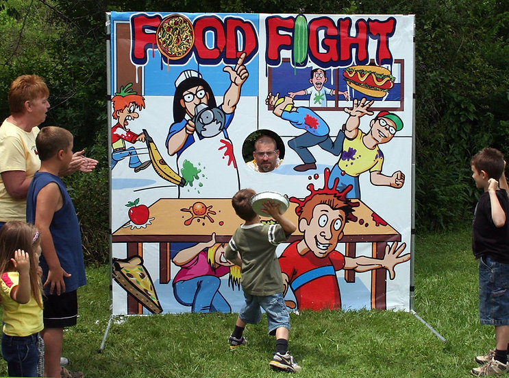 Columbus, Ohio Food fight carnival game rentals Ohio-  Photo prop rentals Columbus, Ohio
