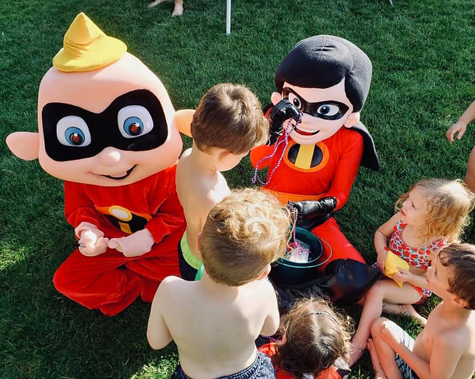 the incredibles cartoon character rentals, the incredibles for hire Columbus Ohio, Birthday Characters for hire, Dayton Ohio