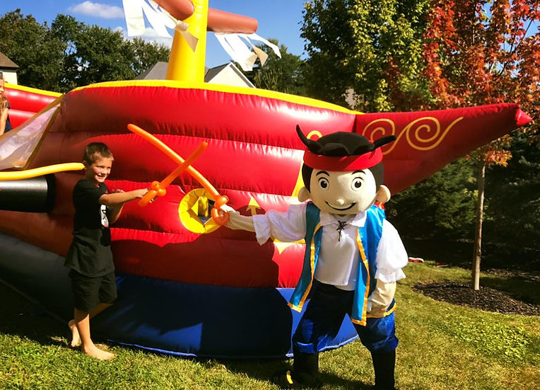 Columbus, Ohio Birthday Party Characters for Hire - Jake The Pirate - Costume Characters for hire Columbus Ohio -
