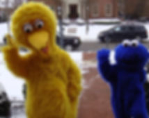 Big Bird and Cookie Monster Mascots