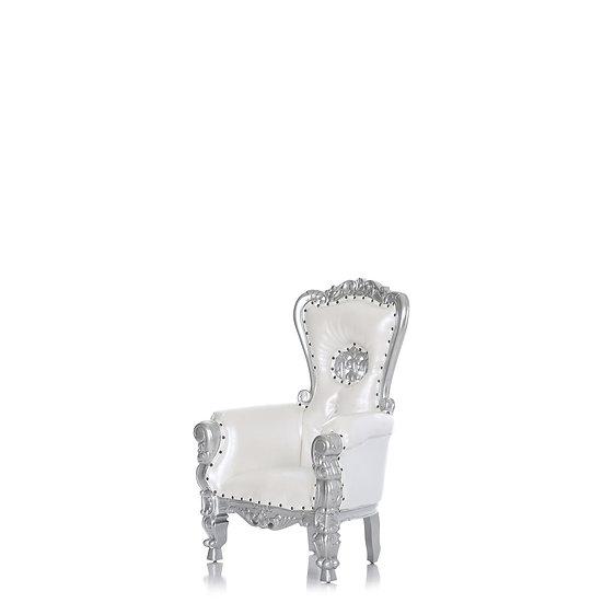 Bexley OHio Kid White Royal Throne Chair rentals Colubmus Ohio event furniture rentals