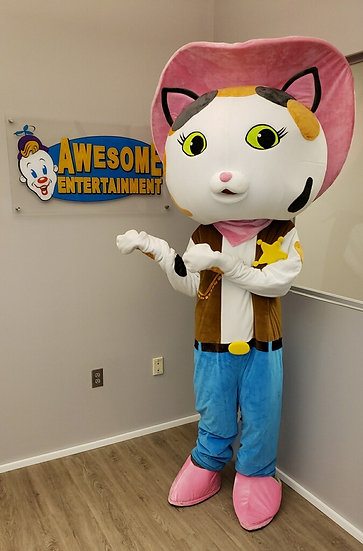 Columbus, Ohio Sheriff Callie cartoon character for hire,  mascot characters,  Ohio party entertainers