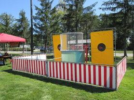 Two Target Dunk Tank Rentals Columbus Ohio Amusement Game Rentals  Columbus Ohio