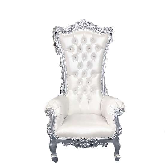 White Royal Throne Chair rentals , baby shower chair rentals, wedding chair rentals Columbus Ohio