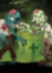 Zombie Photo Booth Back drop rental