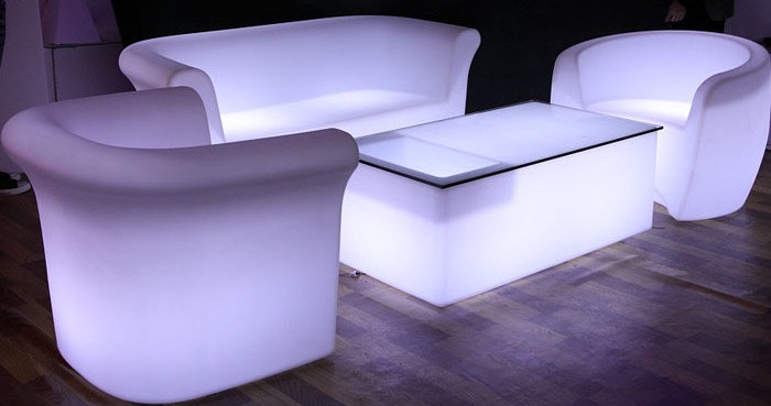 Glow sofa rentals Columbus Ohio LED furniture rentals Dayton Ohio