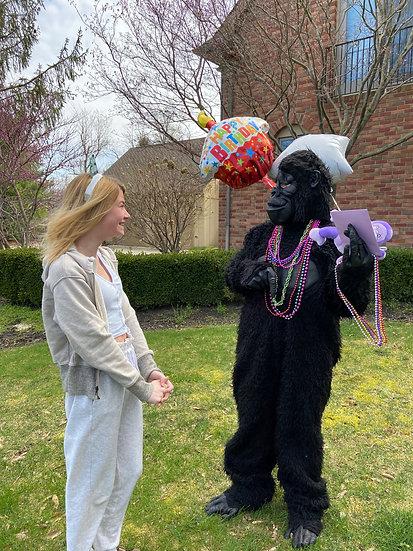 columbus Ohio Gorilla Grams for hire - Bexley Ohio telegrams, telegram rentals Ohio