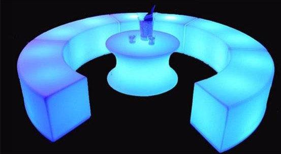 Columbus Ohio Glow benches - LED bench Rentals Columbus Ohio
