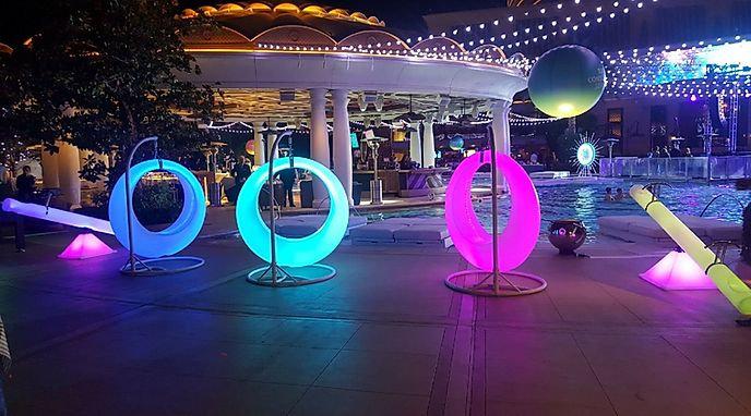 LED Swing Rentals - Light up rentals - event rentals - OH glow furniture rentals Glow Swings Columbus Ohio