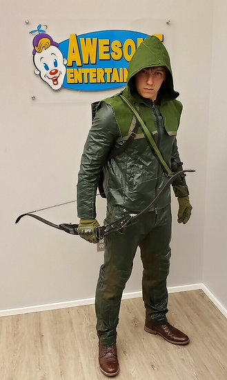 Columbus, Ohio special appearance by Green Arrow impersonator, birthday party superhero character for hire, Columbus Ohio