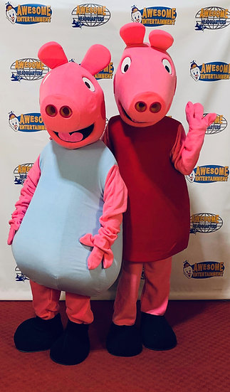 peppa the pig party characters Columbus Ohio - party characters for kids Columbus Ohio