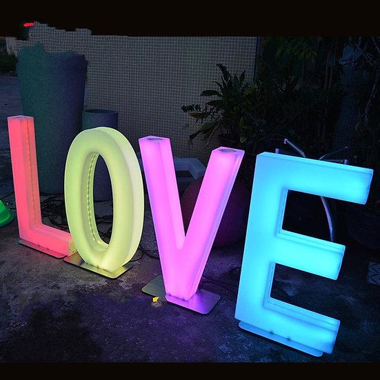 Ohio Giant Glow Letter Rentals - Wedding Prop Rentals LED furniture rentals Columbus, Ohio