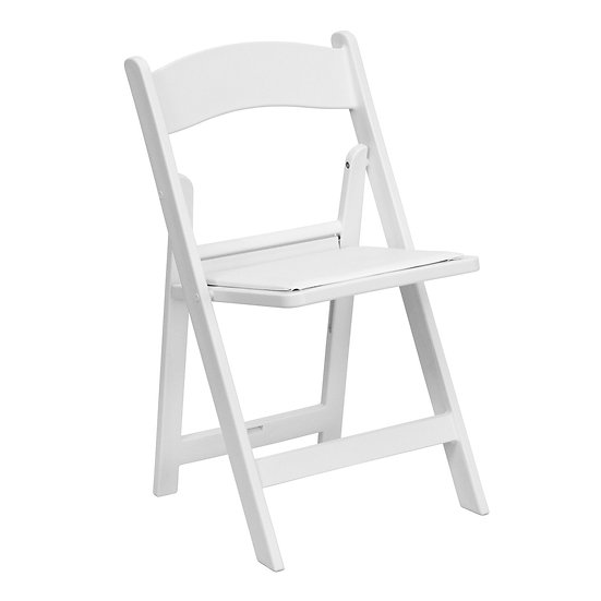 Resin Chair Rentals, Columbus Ohio chair rentals with a cushion, Columbus Oh folding chairs for rent