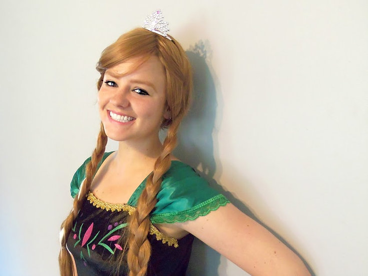 Princess Anna for princess parties Columbus, Ohio - Fairytale characters for parties and events Columbus, OH