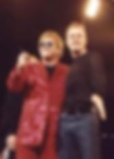 Elton John Paris Hilton with C.E.O Curtis Lovell II of Awesome Entertainment of Ohio