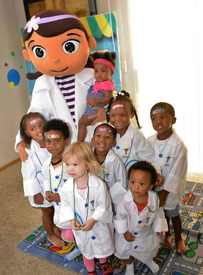 Columbus, Ohio Doc McStuffins party character, Doc McStuffins Impersonator for hire, Ohio cartoon characters