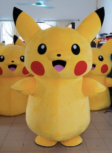 video game costume characters- Pokemon character for hire Columbus Ohio