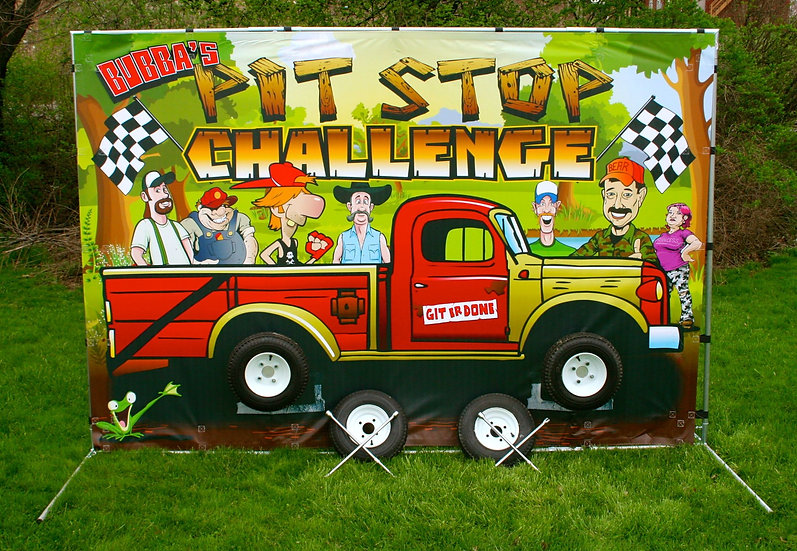 Race Car Carnival Game, Columbus Ohio Bubba Pitt Stop Game - Ohio Carnival Rentals