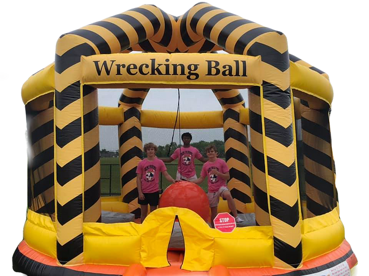 Inflatable Wrecking Ball Game Rentals, Inflatable Rentals for College and High School Parties, Columbus, Ohio