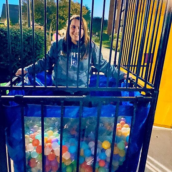 Columbus, Ohio Dunk tank filled with plastic balls, Columbus Ohio