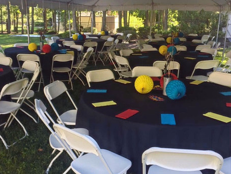 Planning an Outdoor Party? Not sure how to plan for tables, tents, & chairs? Check out these tips!