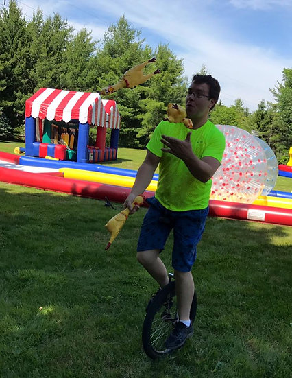 Columbus, Ohio Jugglers - Unicyclist - Balancing Acts for hire - Party entertainment for hire- corporate entertainment OH