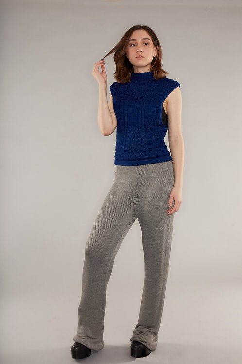 High waisted knitted trousers