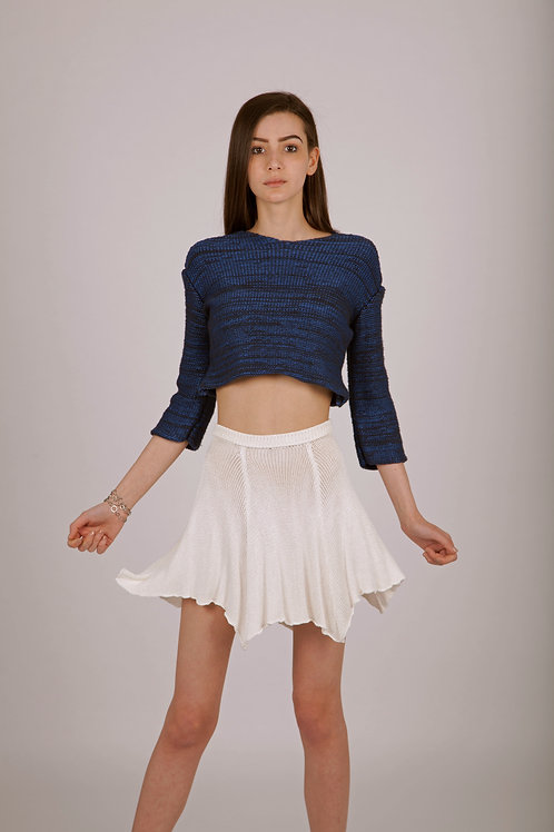 Viscose knitted skirt