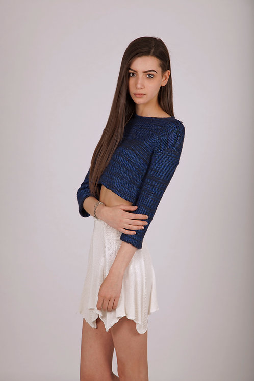 Reverse knit crop jumper